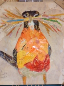 art, bird collage