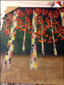 art, trees