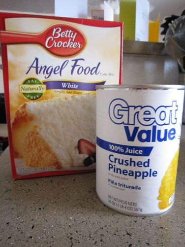 angel food/crushed pineapple cake