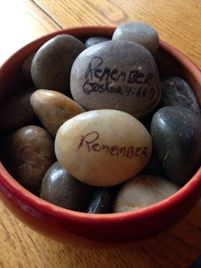 "My ""remember"" stones"