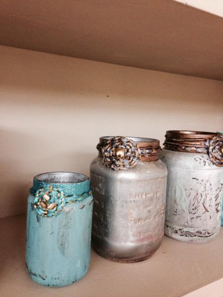 Christmas mason jars DIY