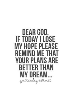 God's plans are better