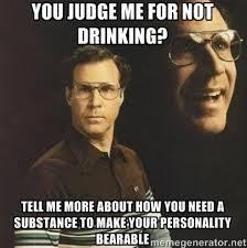 not drinking