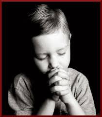 child-like praying