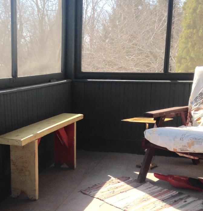 porch off second floor bedroom/diy