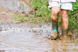 children and mud puddles