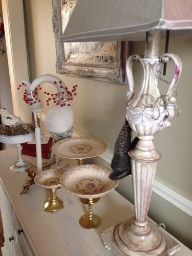 close up of buffet in dining room