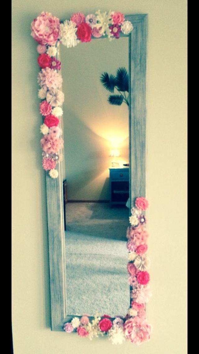 flowered mirror