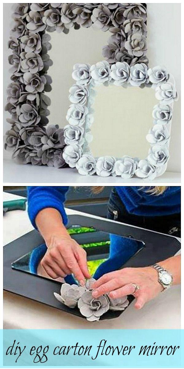 flowered trimmed mirror