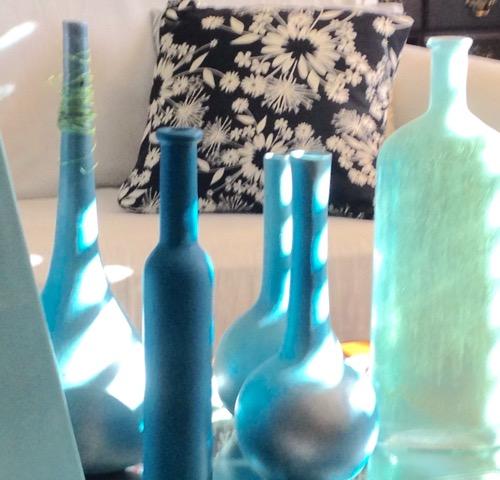 blue vases
