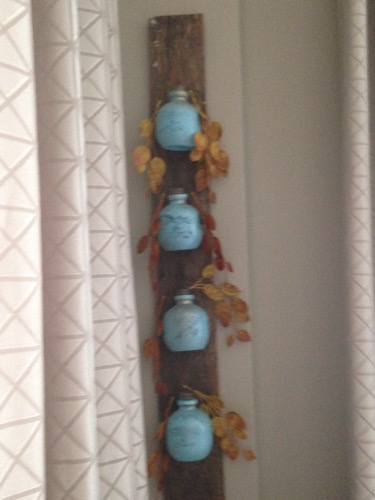 blue juice container art
