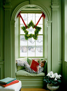 The Stellar Wreath, a departure from the traditional round form, is one star that's sure to shine.