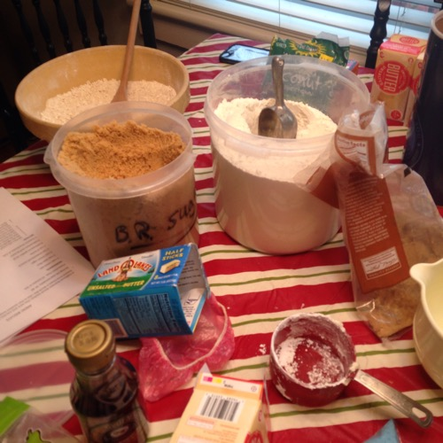 cookie baking mess