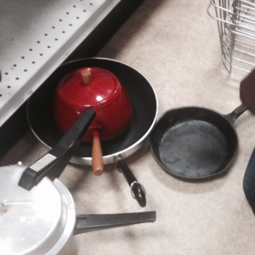 small cast iron fry pan