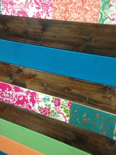 plank board wall