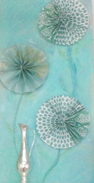 paper rosettes/bunkhouse