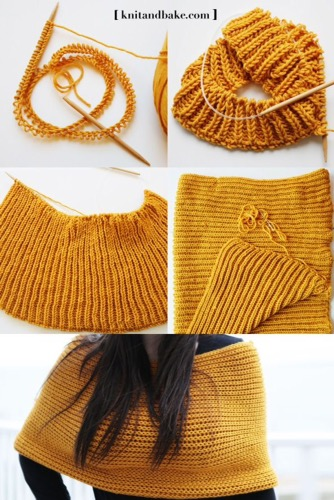 gold knitted wrap
