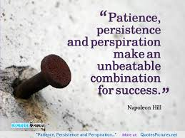 persistence makes for success