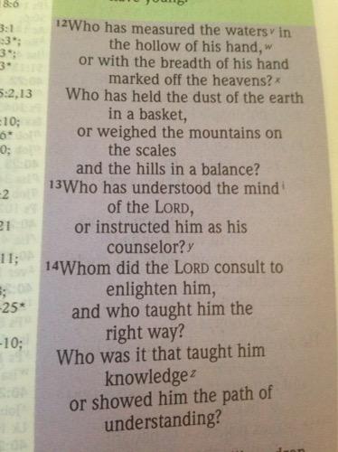 Isaiah 40: 12-14