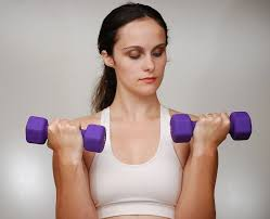 exercising with weights