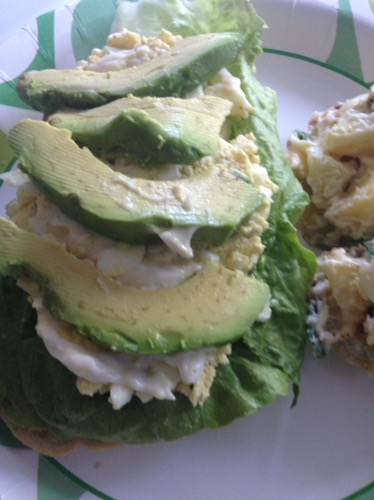 egg salad avocado sandwich