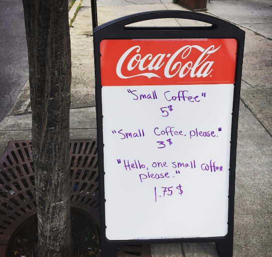 coffee-shop sign