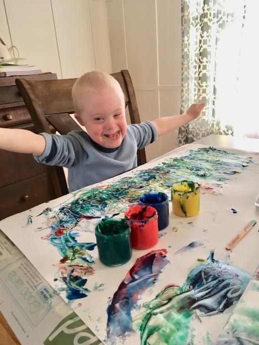 Lukey painting