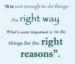 right reasons
