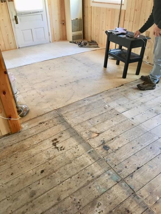 tearing up carpet/cabin