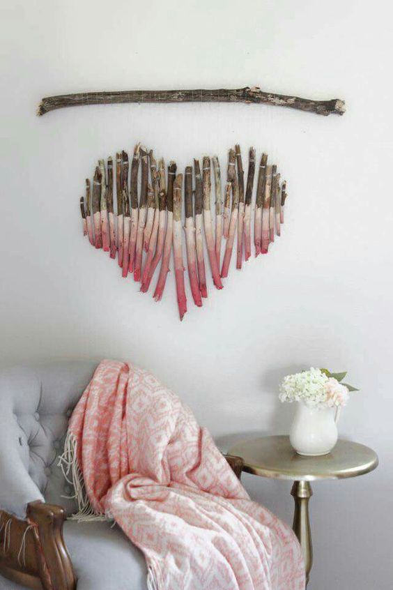 Cute stick DIY wall hanging