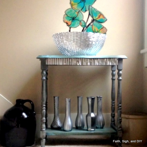 DIY painted table