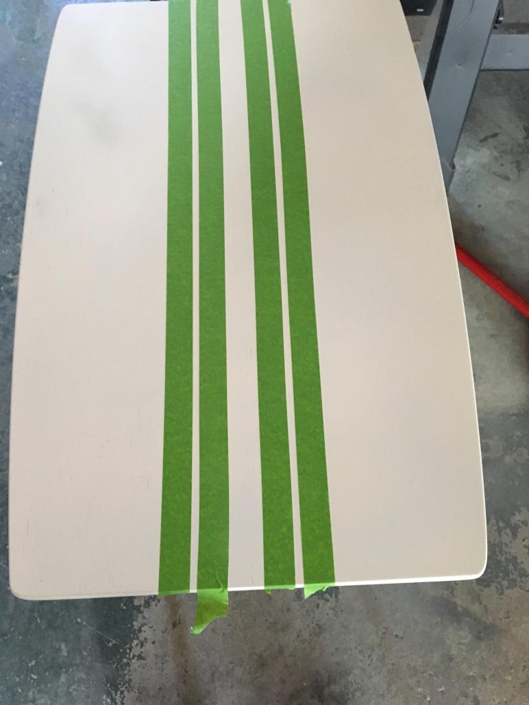DIY/painted furnture/grainsack striping