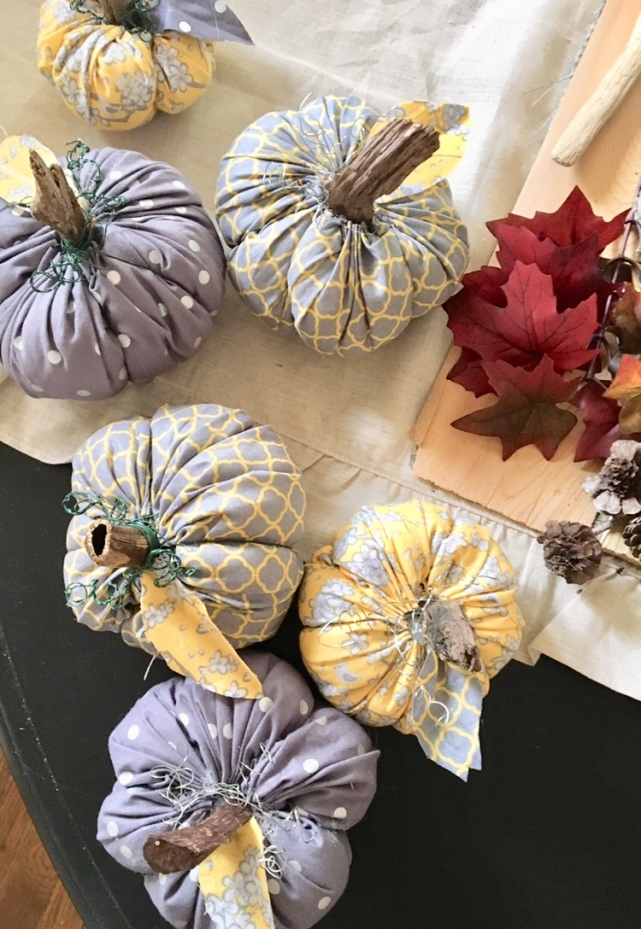 DIY/fabric pumpkins
