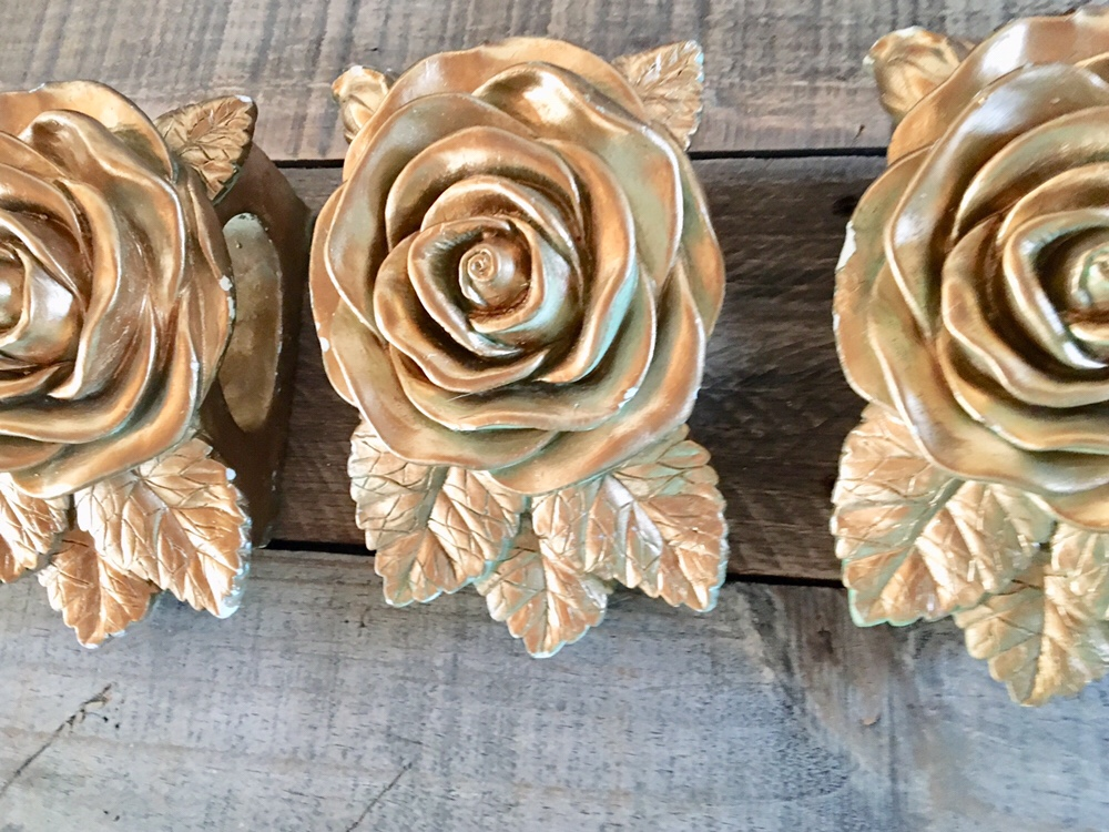 gold curtain holders/Thrift store/DIY