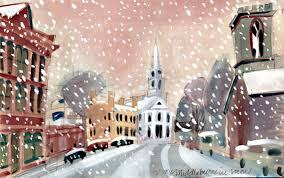quaint Christmas town/inspirational