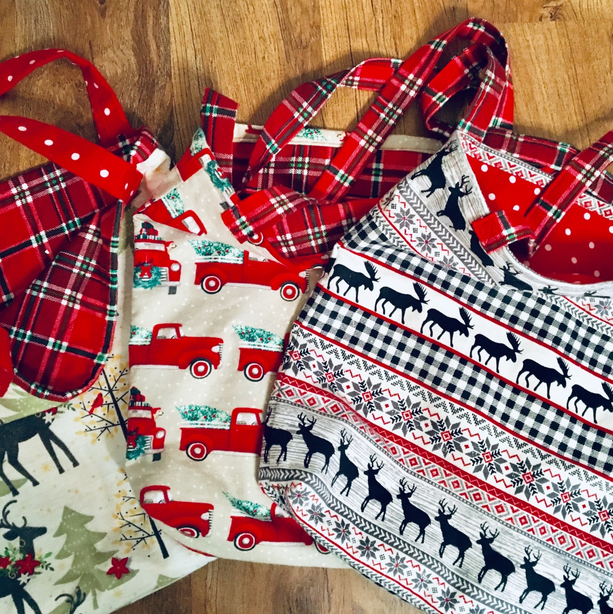 Flannel Christmas bags/DIY