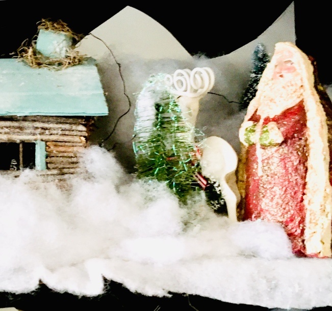Christmas decorating/hutch