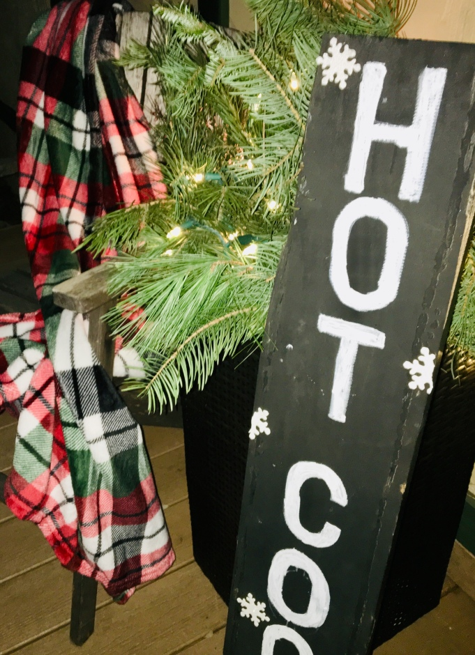 Decorated Christmas porch
