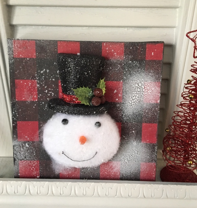 Christmas DIY/Dollar Tree/Snowman head