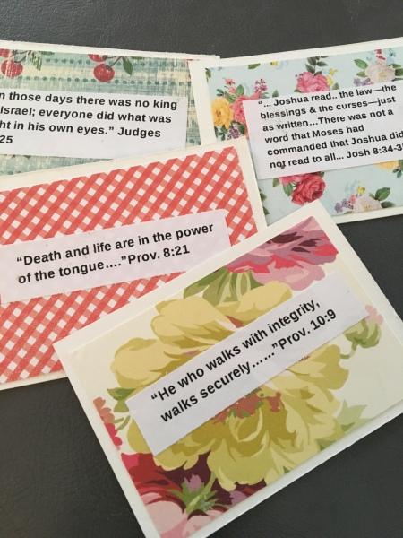 DIY/scripture cards/inspirational