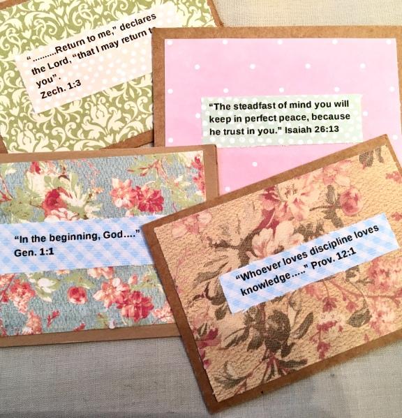 cripture cards/inspirational/diy