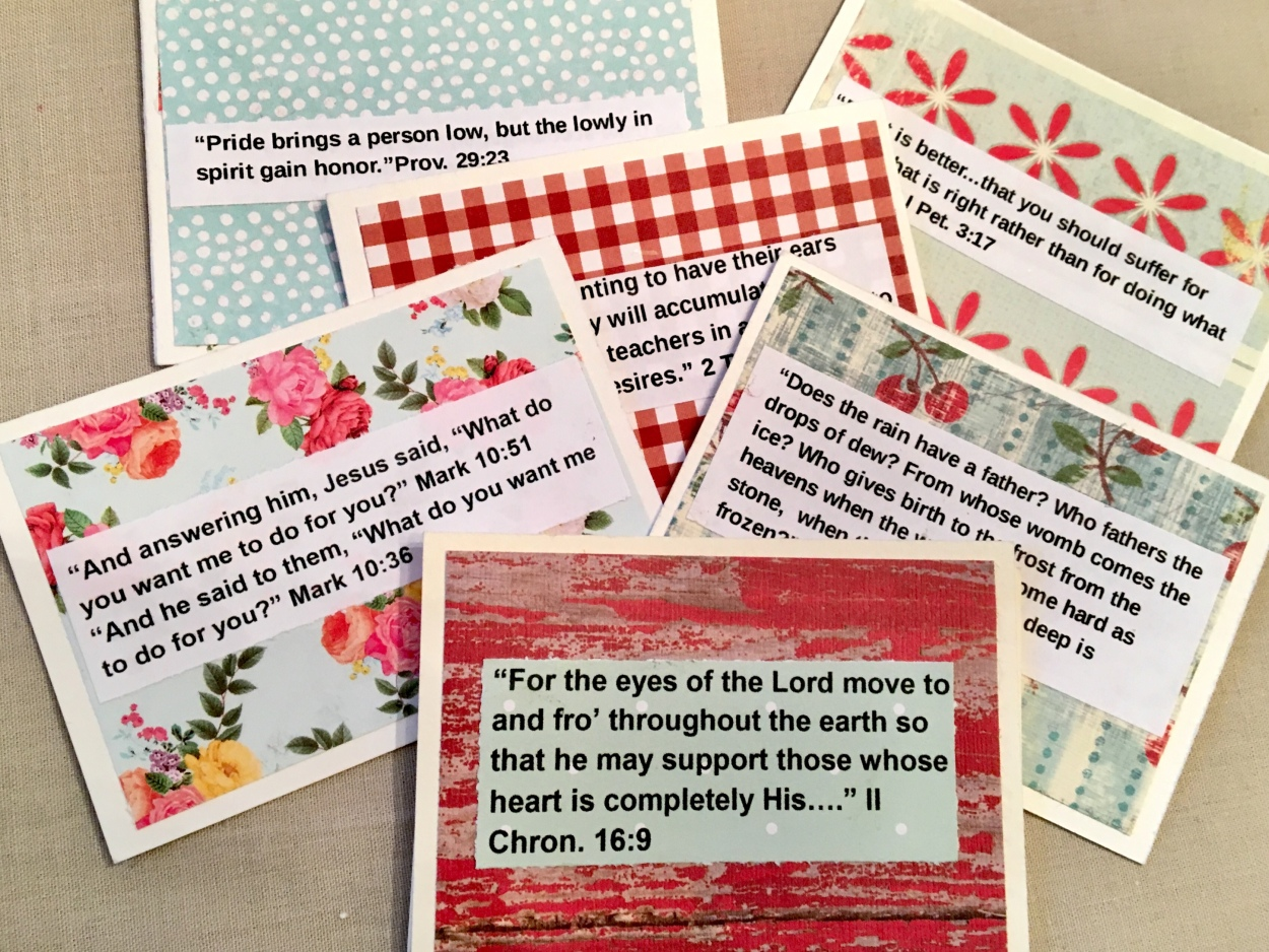 cripture cards/inspirational/diy